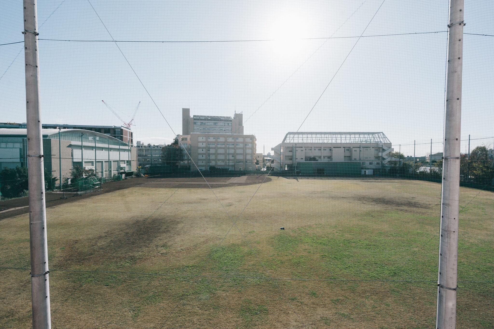 南側の住棟は、お隣の東京農大のグラウンドが目の前で、ご覧の通りの驚きの眺望の良さです。