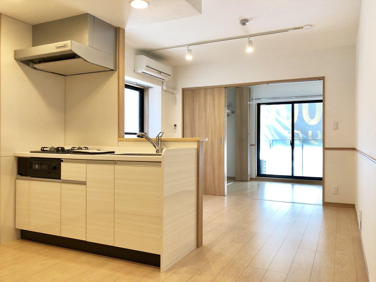 34.71㎡とややコンパクトですが、寝室とLDKでしっかり2部屋区切ることができ、仲良しふたり暮らしにおすすめしたい新築のお部屋です。