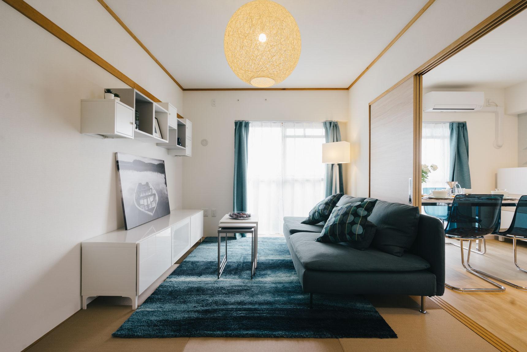 もう一度、リビングを。イケアでの家具選びが一層楽しくなりそうなお部屋です。