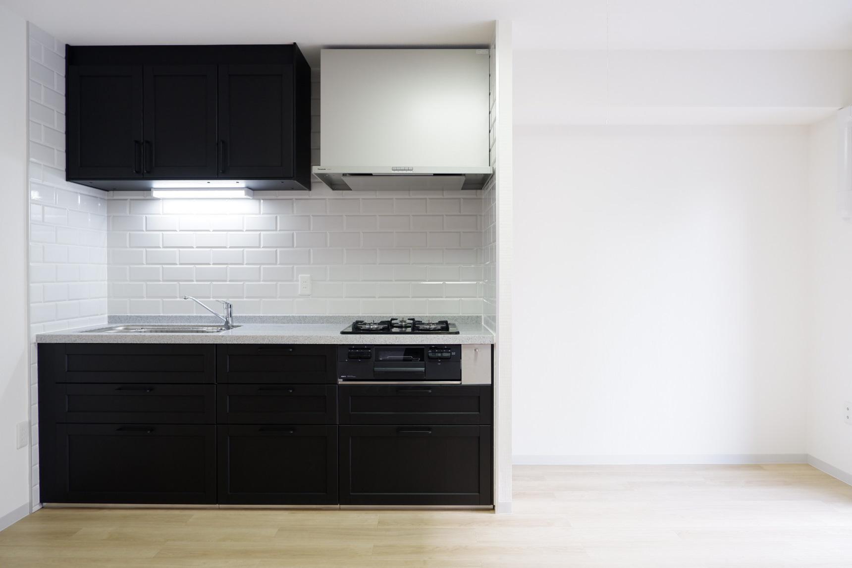 ちなみに、1DKの「スカンジナビアントラディッショナルスタイル」のキッチンはこんな感じ。こっちもかっこいい!