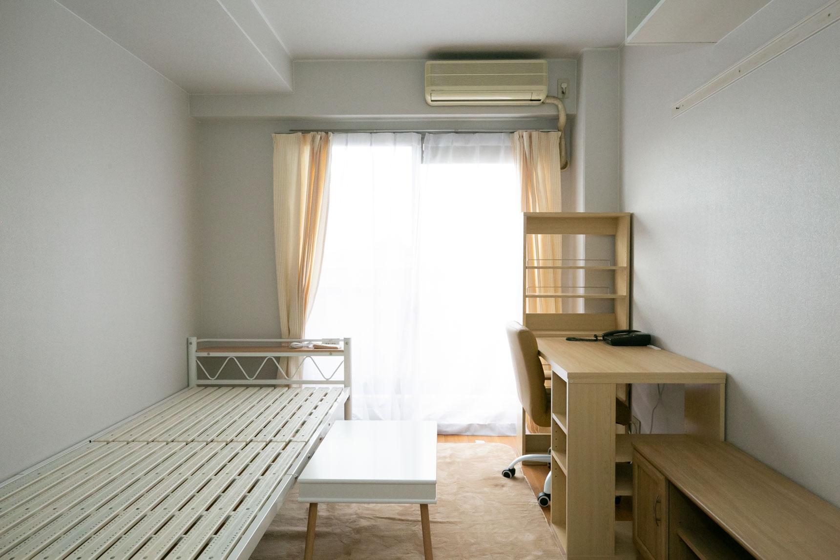 こちらが、パーソナルスペース内。6.8畳と十分な広さがあります(写真はモデルルーム、家具は付属しません)