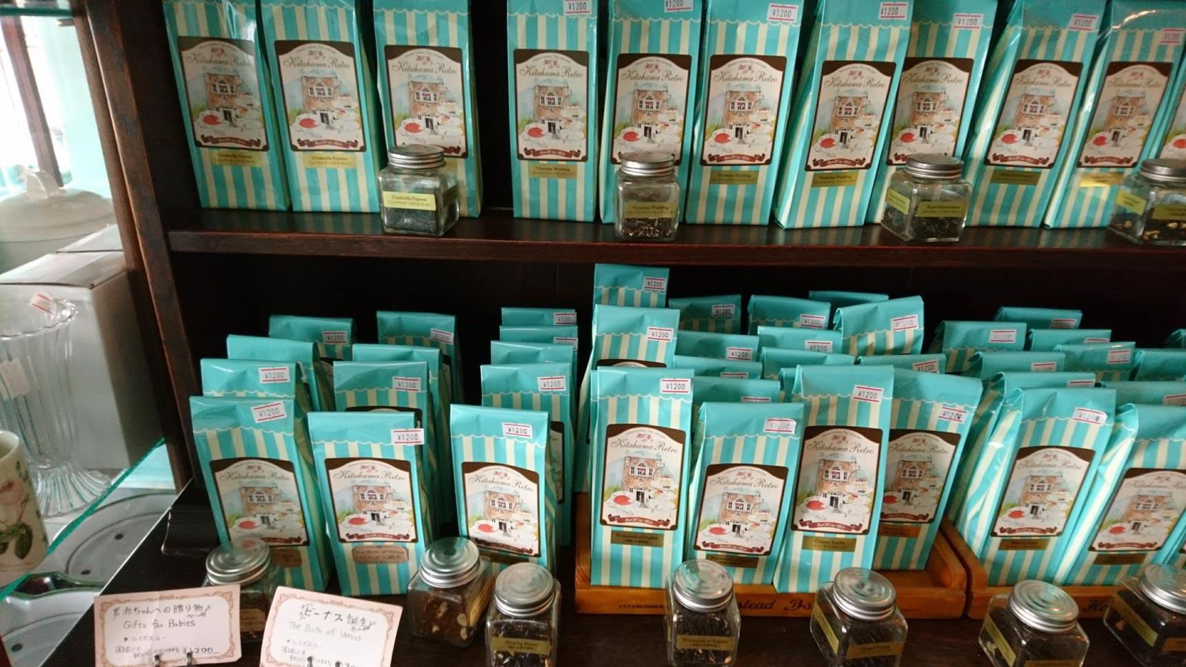 オリジナルパッケージの紅茶は手土産に喜ばれそう。