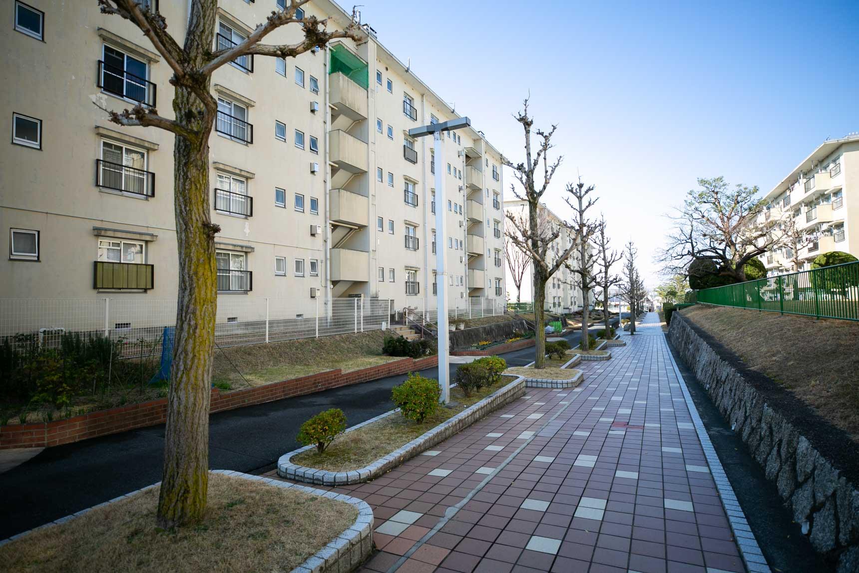 相生山団地も、住棟の間のスペースが広めにとられていて、敷地内をお散歩するのも楽しそうだなと感じました。