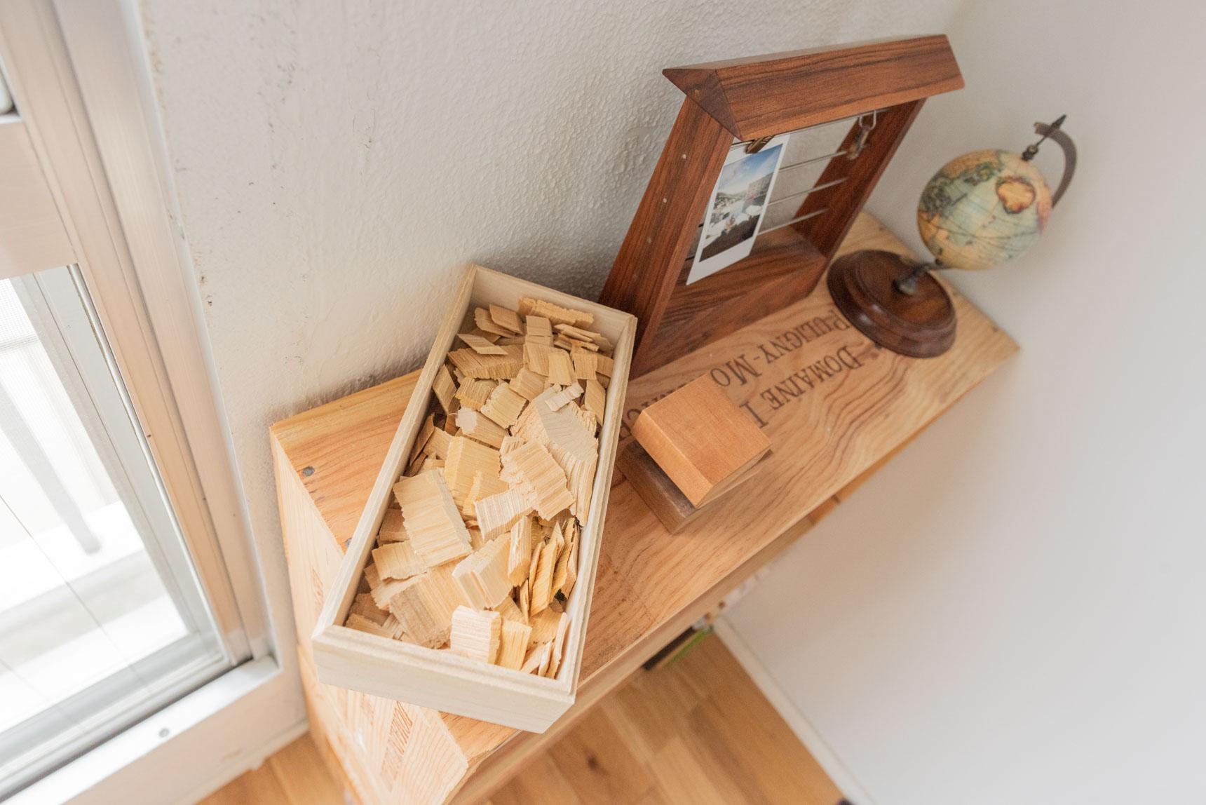 天然素材のウッドチップで玄関をおしゃれに消臭。Cul de Sac-JAPON(カルデサックジャポン)の HIBA CHIP