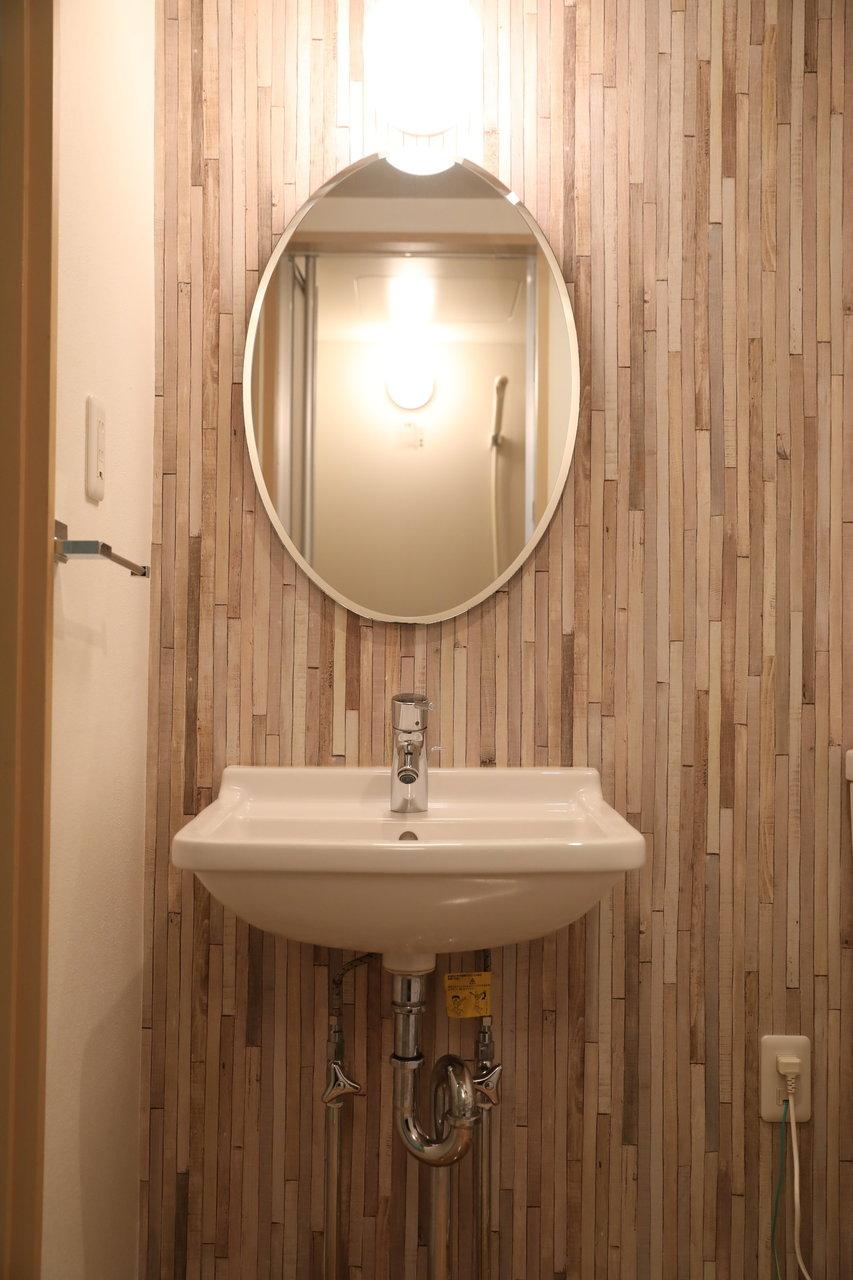 洗面台も可愛い。この可愛いお部屋に7万円以下に住めるなら、西武新宿線、悪くないです。