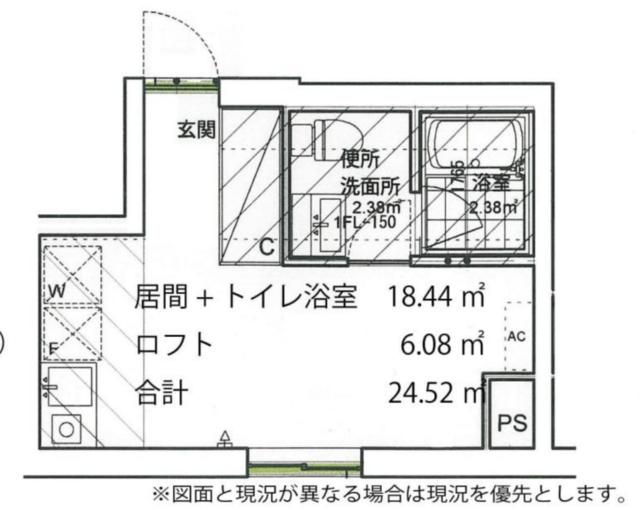 (上石神井/18.44㎡/6.8万円)