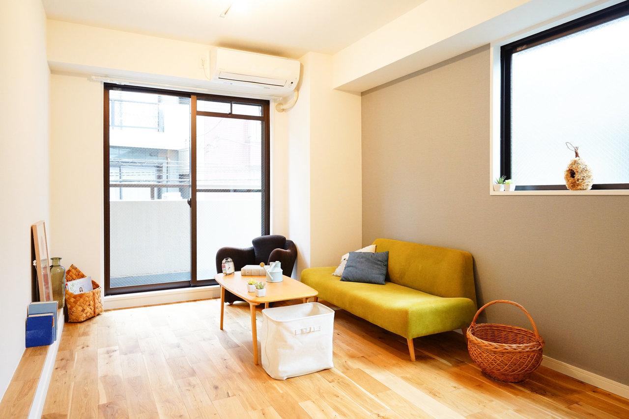 goodroomオリジナルリノベーション『TOMOS(トモス)』のお部屋に空きが出てます。コンパクトながら無垢床の空間は、居心地良し。