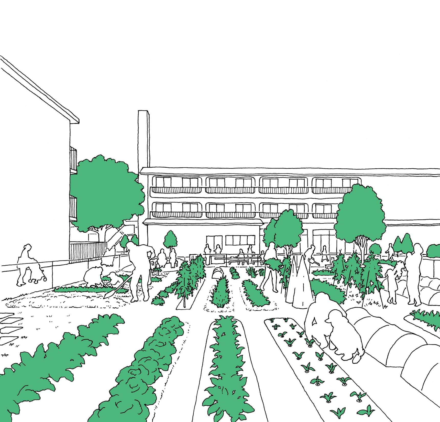 農園のイメージ図