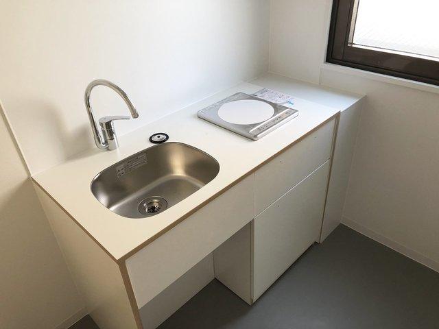 給湯室も、こんなに可愛いんです。goodroom自慢のキッチンつけちゃいました。