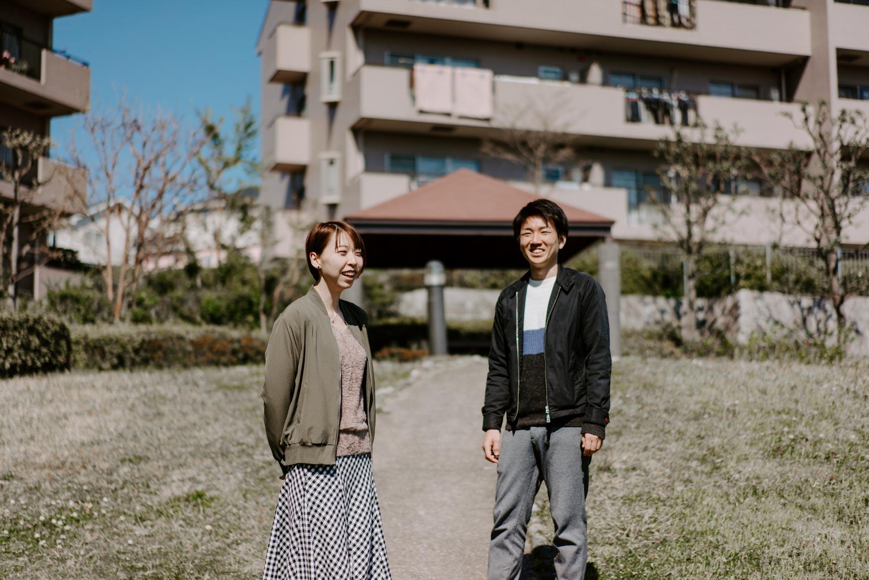 お話を聞かせてくれたのは、陽果(はるか)さん(写真左)と佳輝(よしき)さん(写真右)のカップル。この春、大阪から関東へとお引越ししてきました。