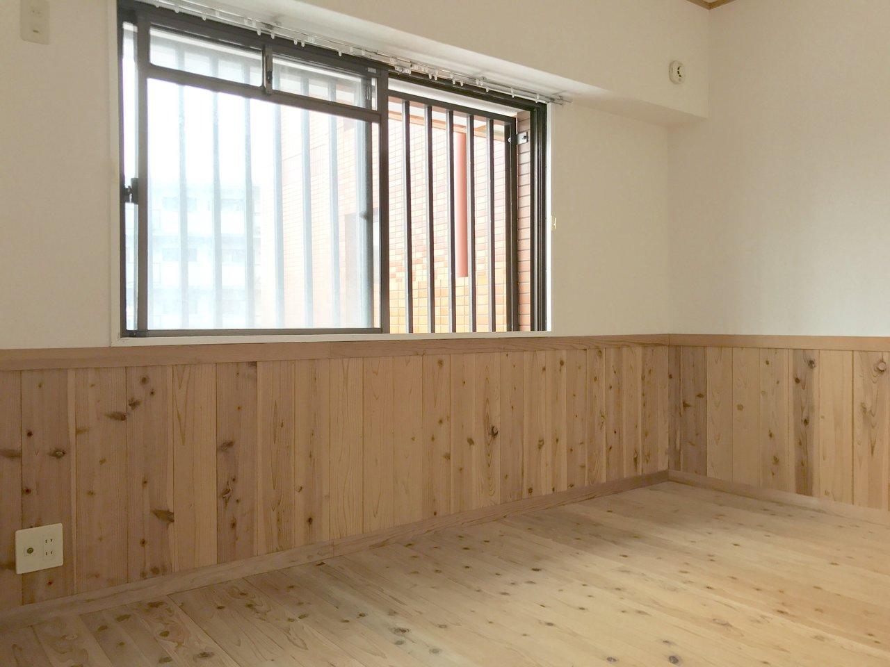 もう一部屋ある洋室も、全て無垢。北欧インテリアが似合いますよ。