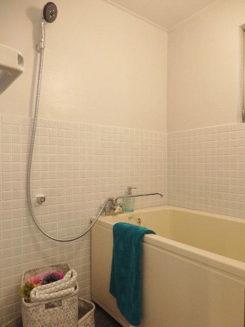 水回りもちょっとラフなリニューアル。トイレ・洗面台は新品に入れ替えられていますが お風呂は昔ながらのタイルはあえてそのままでレトロ可愛い感じです。(※写真は別部屋)