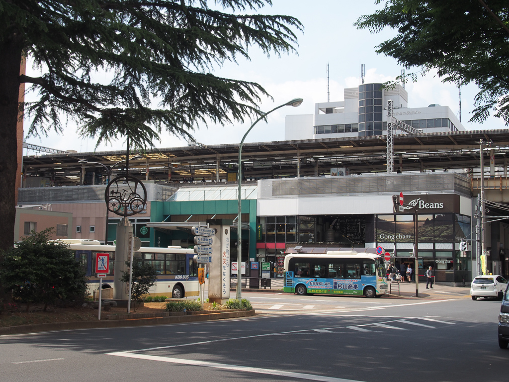 JR阿佐ヶ谷駅南口。ここからさらに南下すると、丸ノ内線・南阿佐ヶ谷駅がある。