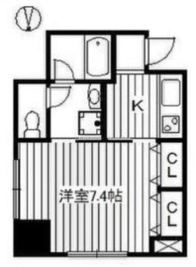 たとえばこういう間取りのお部屋。隣の部屋との間は「収納」なので、物理的に距離ができます。(このお部屋はこちら)