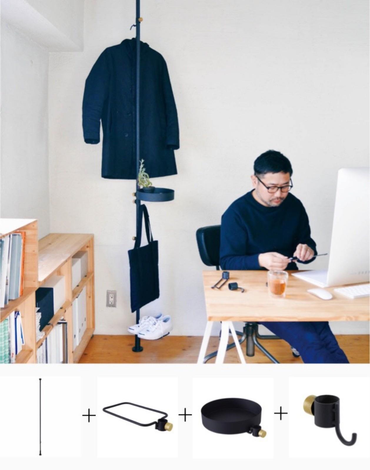 突っ張り棒のトップシェアメーカーである平安伸銅工業とクリエイティブユニットTENTのコラボレーションにより生まれた「DRAW A LINE」シリーズ。おしゃれなデザインと豊富なパーツが人気です(詳細はこちら)