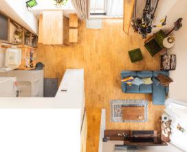 「グリーン」と「大きなキッチン」が訪れる人をもてなす。ふたり暮らしの2LDK