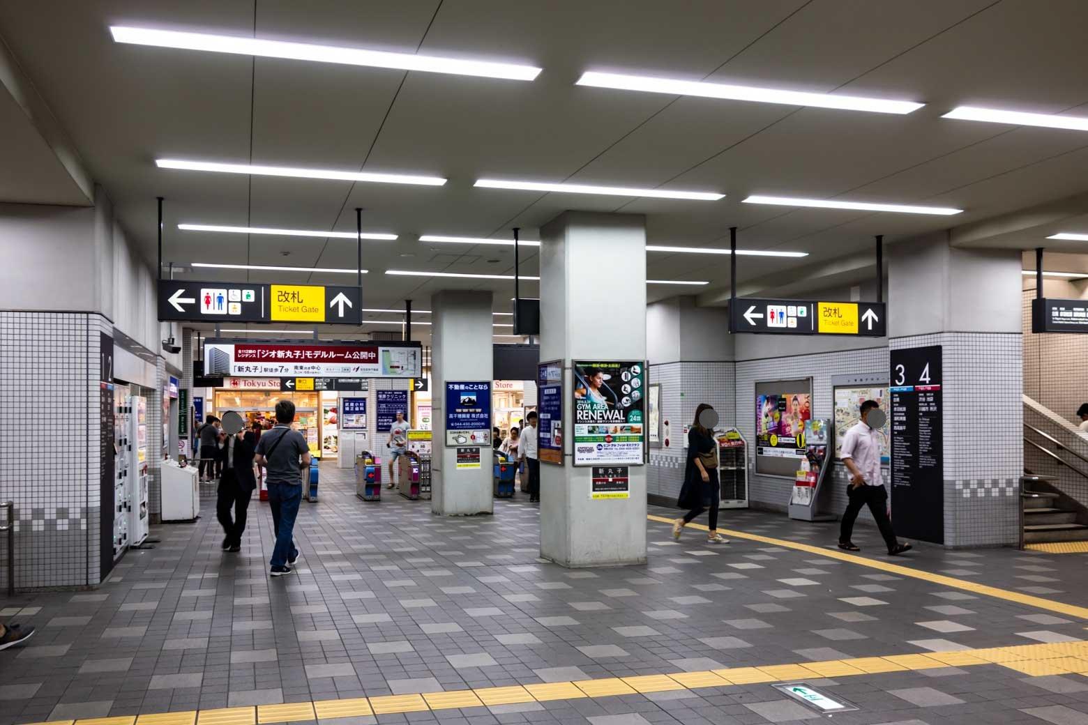 駅に24時間営業してる東急ストアが入っています。帰宅が遅くなってしまっても安心ですね。