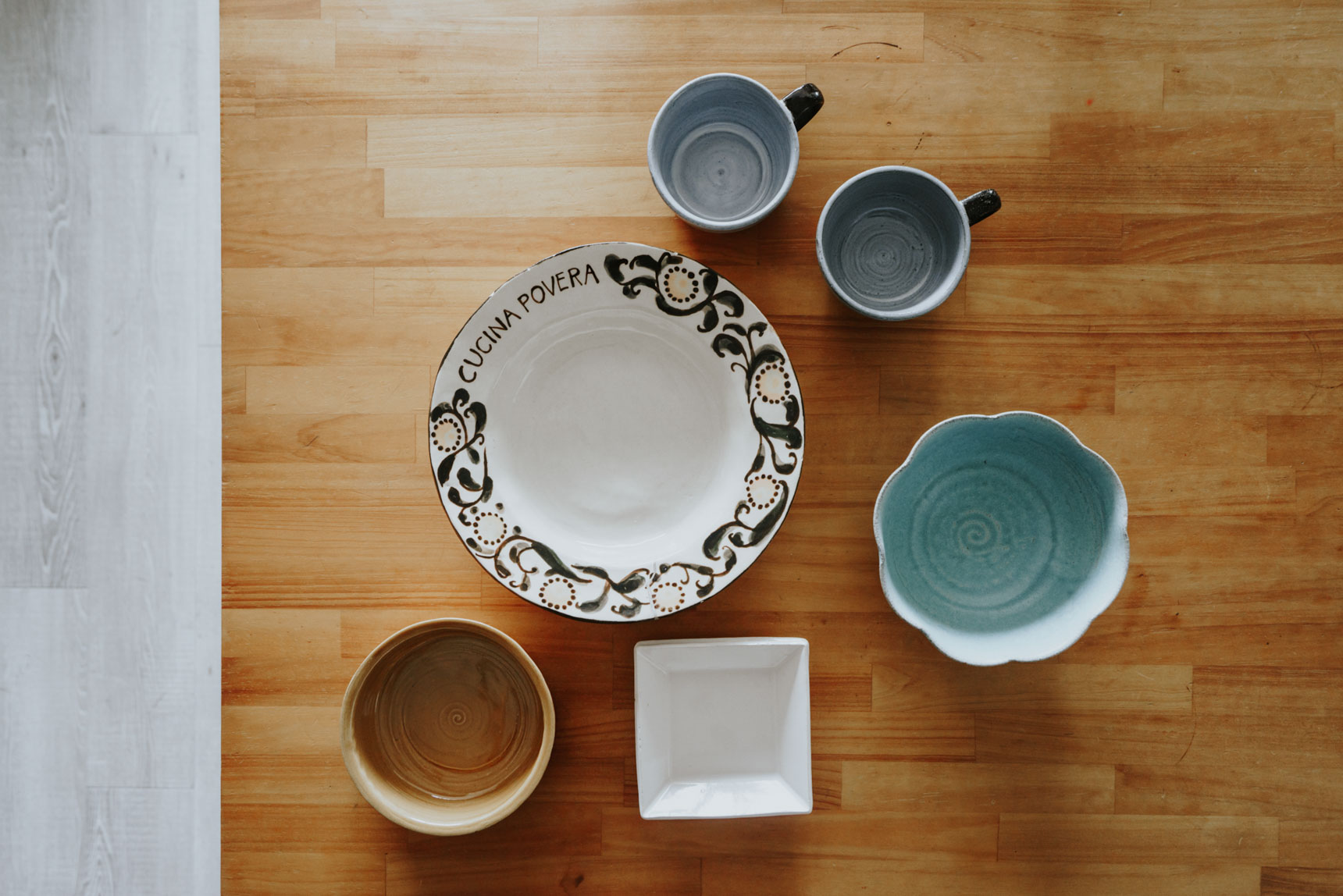 あがささんは最近、陶芸教室に通われているとのことで、お気に入りの器はご自身たちで作られたもの。