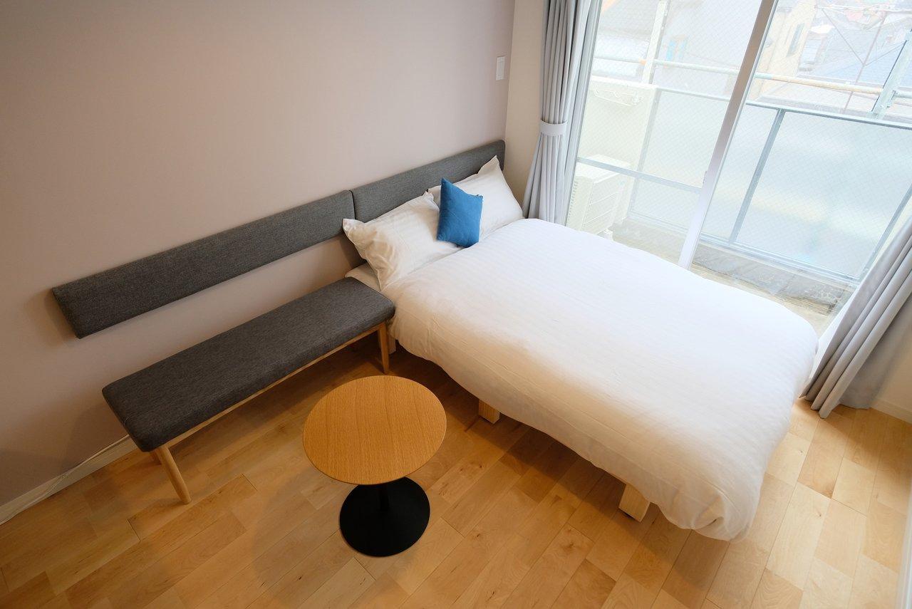 グッドルームのリノベーションブランド「TOMOS (トモス)」と同様、全室、無垢フローリングの空間に仕上げています