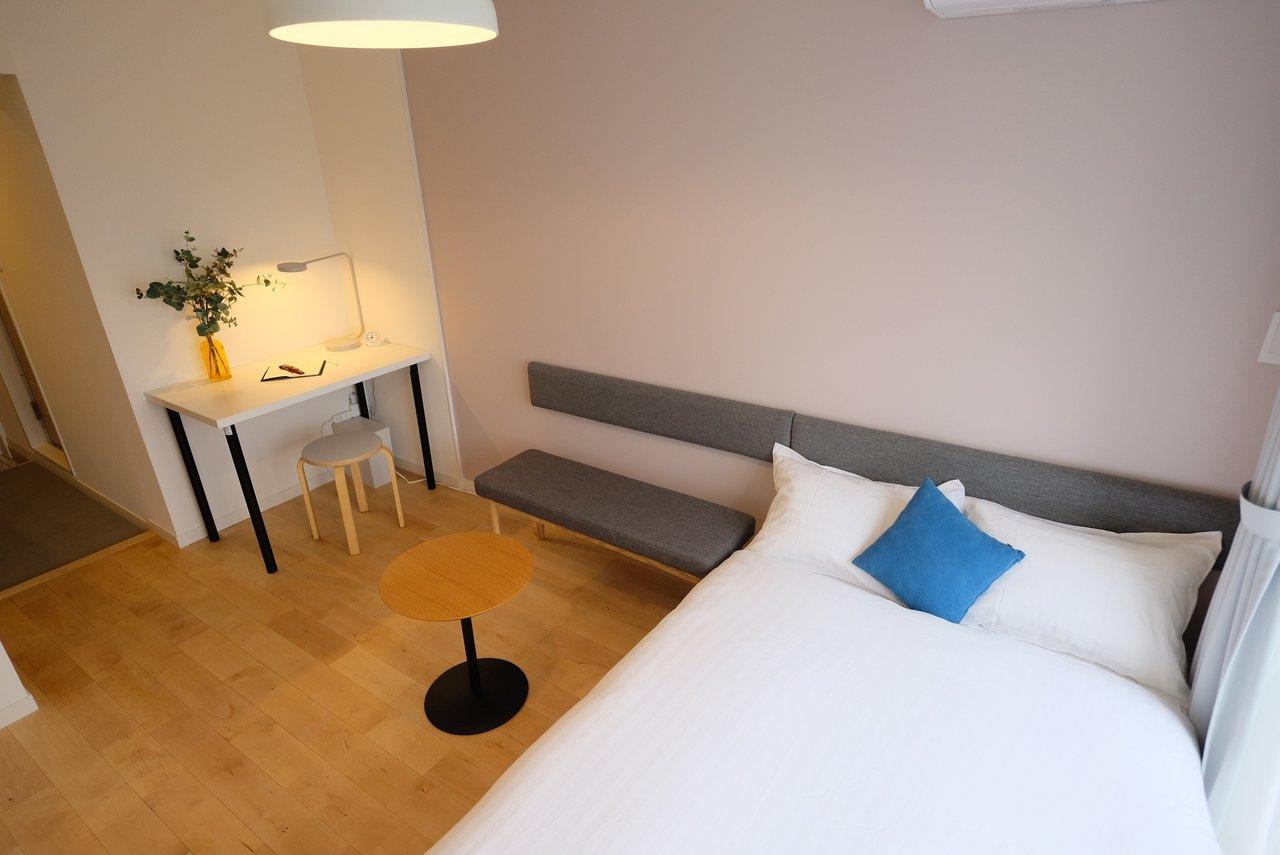 コンパクトな空間でも快適に暮らしてもらえるように、家具選びにはこだわりました。