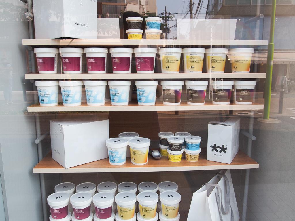 アイスの専門店「HiO ICE CREAM」も。