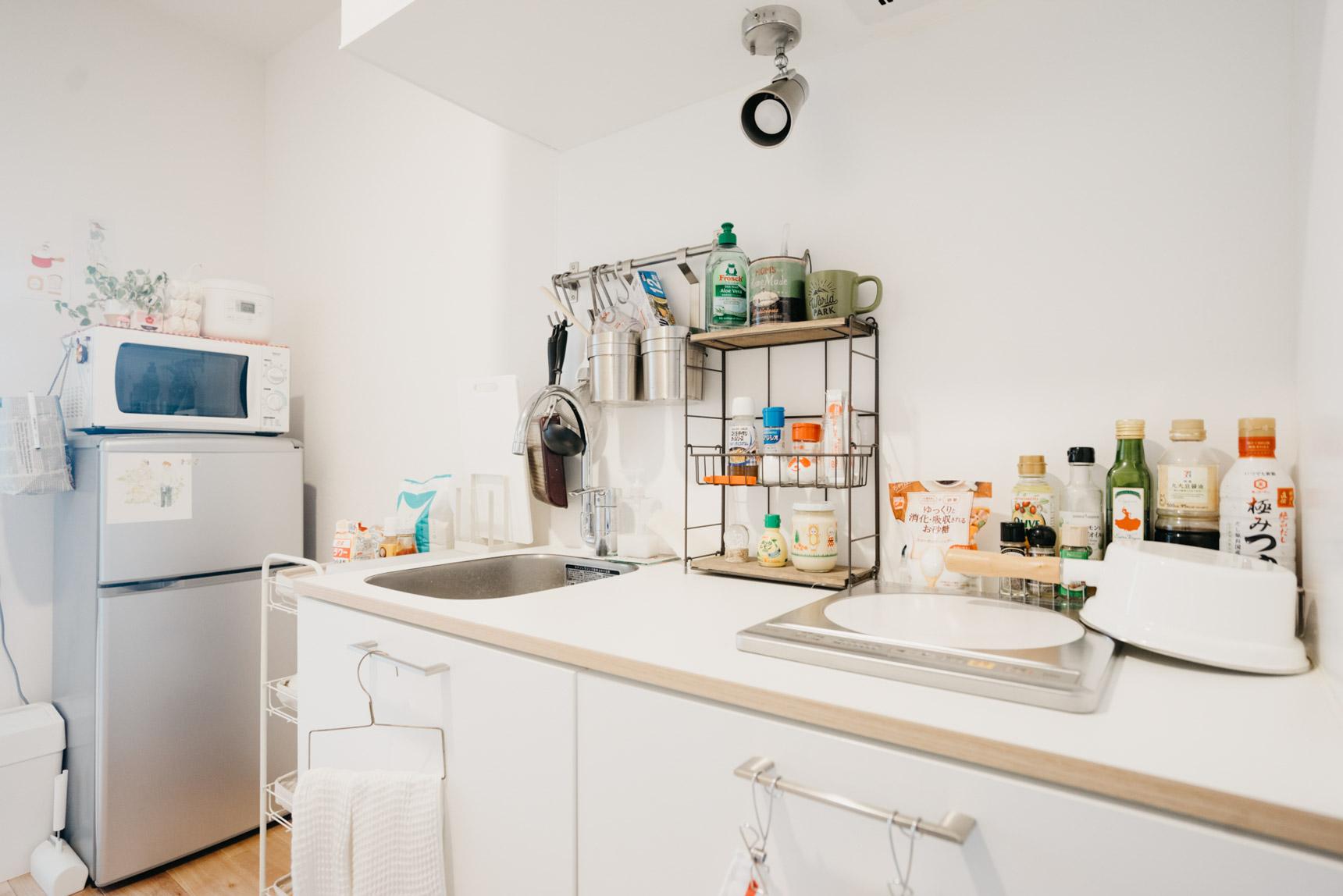 キッチンも、TOMOSオリジナルのデザインキッチン。うまく使いこなしていらっしゃいます。