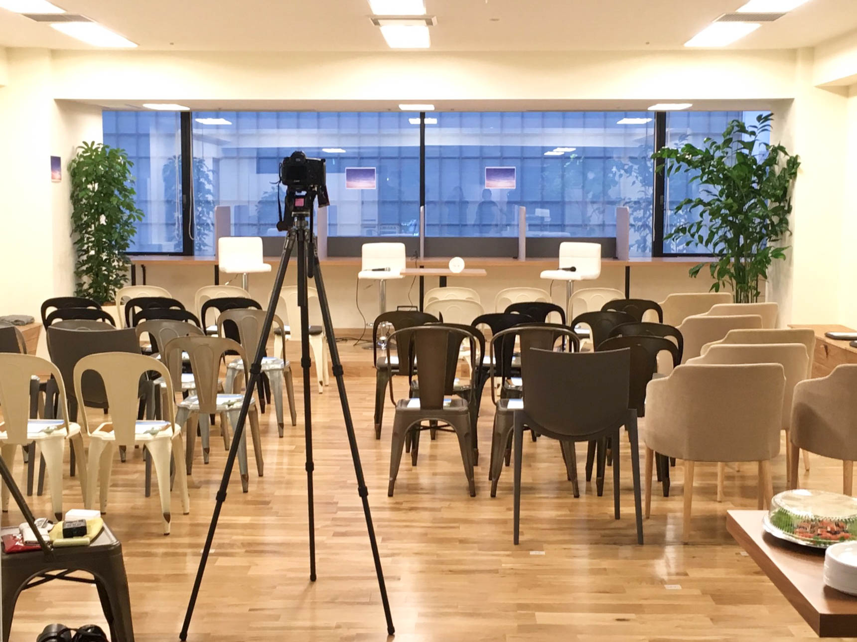 この日は入居企業様主催のイベントが開催されていました。こんなところからも、新しいビジネスチャンスが生まれていくのかも。
