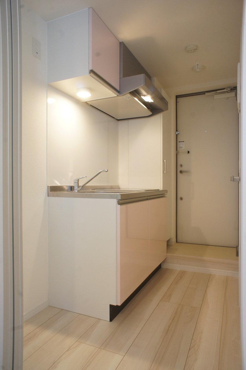 キッチン周りも冷蔵庫がちゃんと置けるスペースがありますよ。バストイレ別、独立洗面台も!水回り設備が充実したお部屋です。