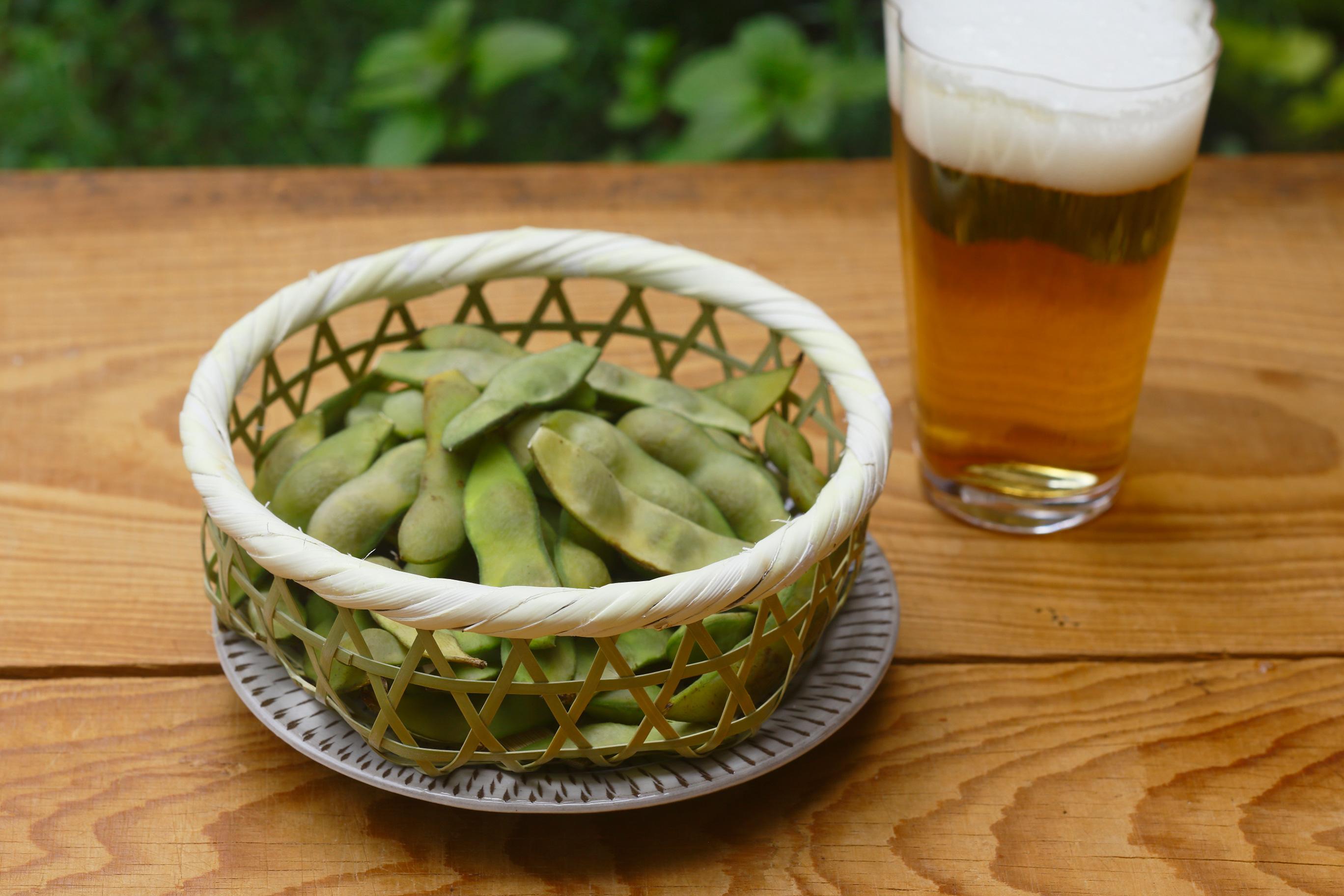枝豆とビールのセットにもぴったり。