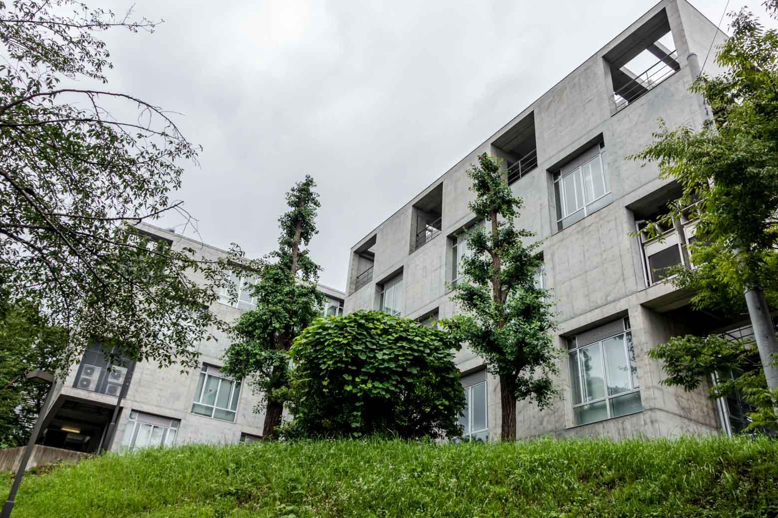 こちらが東京工業大学。巨大すぎてうまく撮れませんでしたが、おしゃれなデザイナーズマンションのような外観でした。