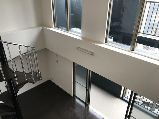 2階からの眺めです。この空間の使い方、贅沢ですよね。
