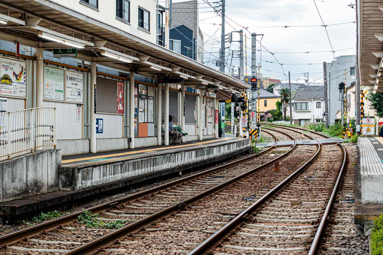 駅は非常にコンパクト。町全体にのんびりした空気が流れています。