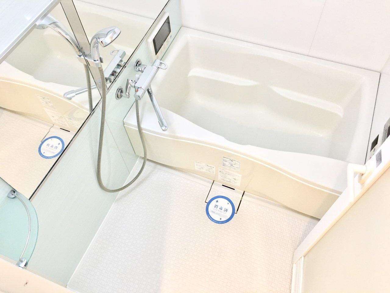 お風呂は、浴室乾燥機にミストサウナ付き。一週間お仕事をがんばった身体を、しっかり温めて疲れを癒してあげてくださいね。