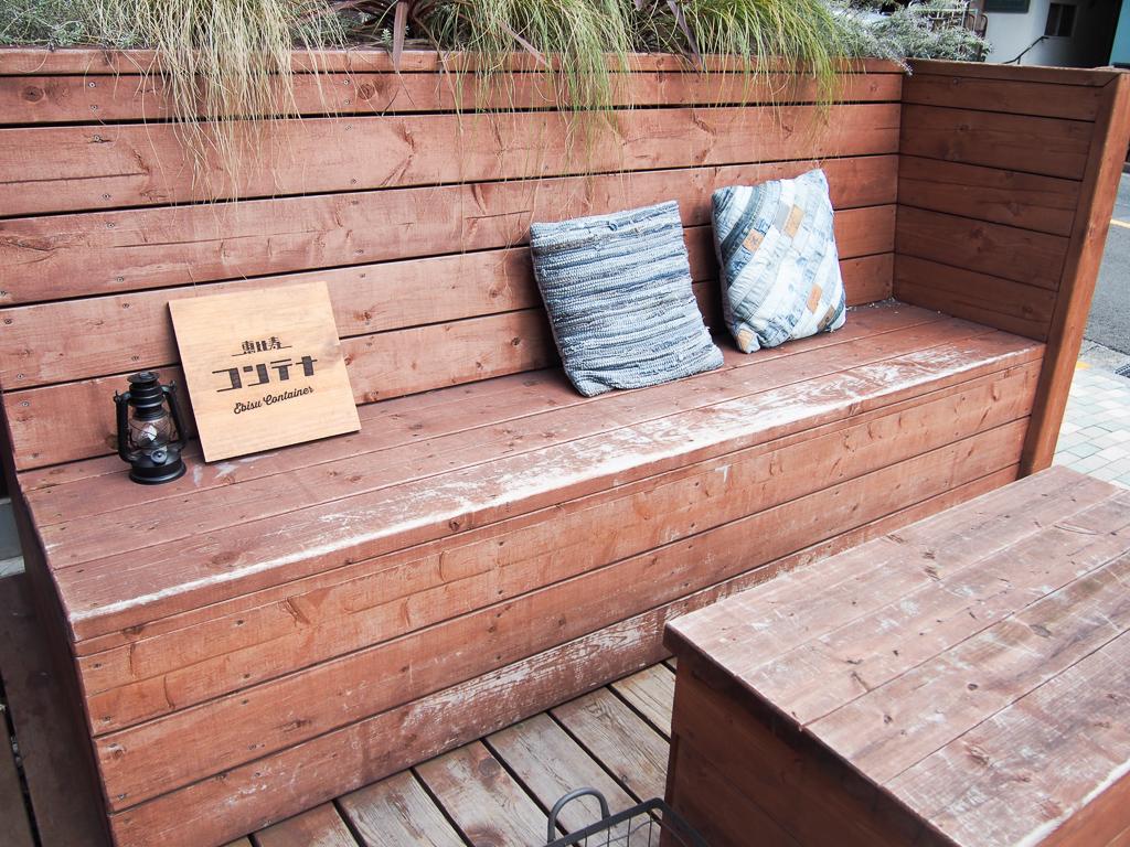 天気が良ければ、テラス席で恵比寿の街並みを眺めながらお茶をいただくのもいいですね。