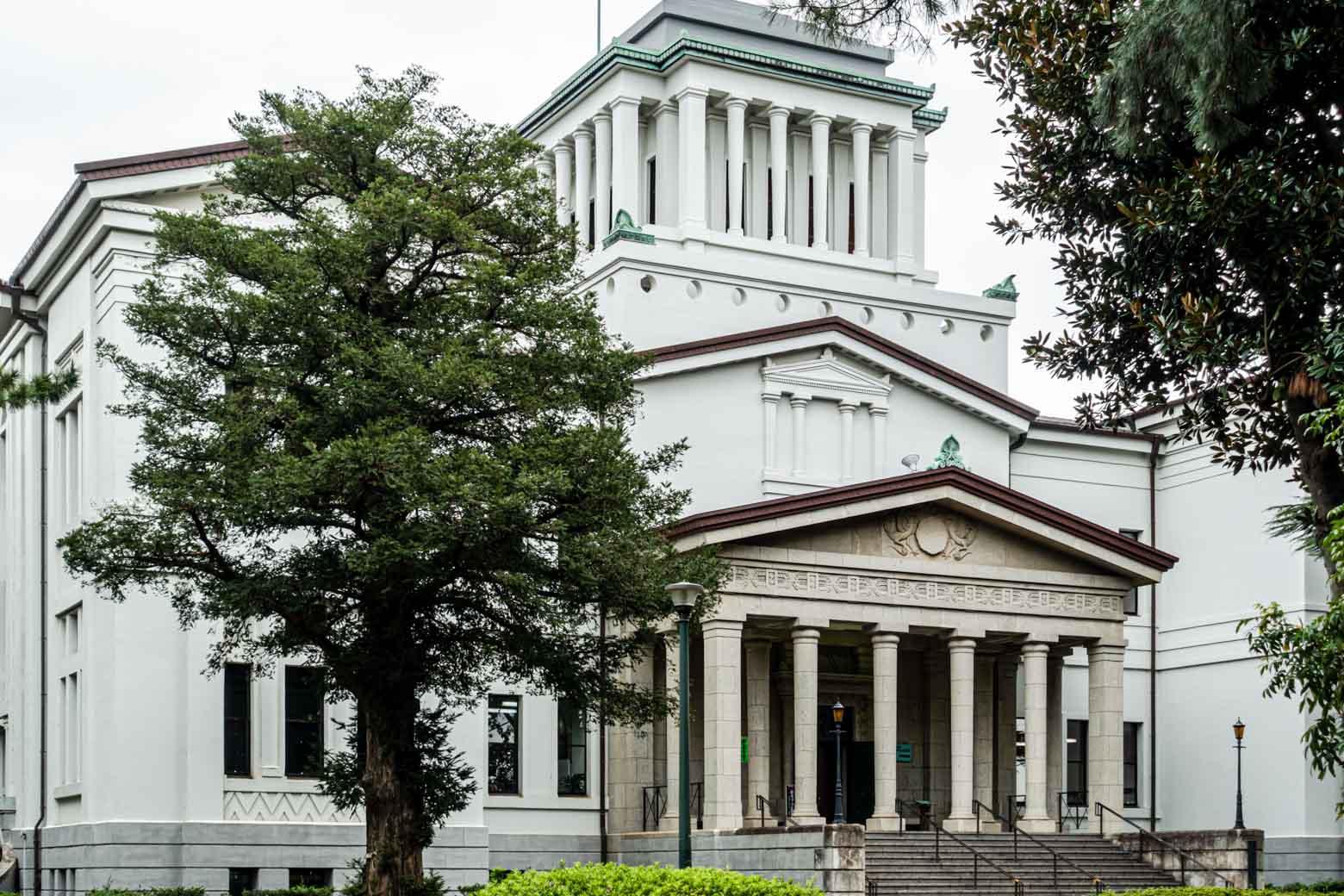 横浜市指定有形文化財「大倉山記念館」のある、大倉山公園