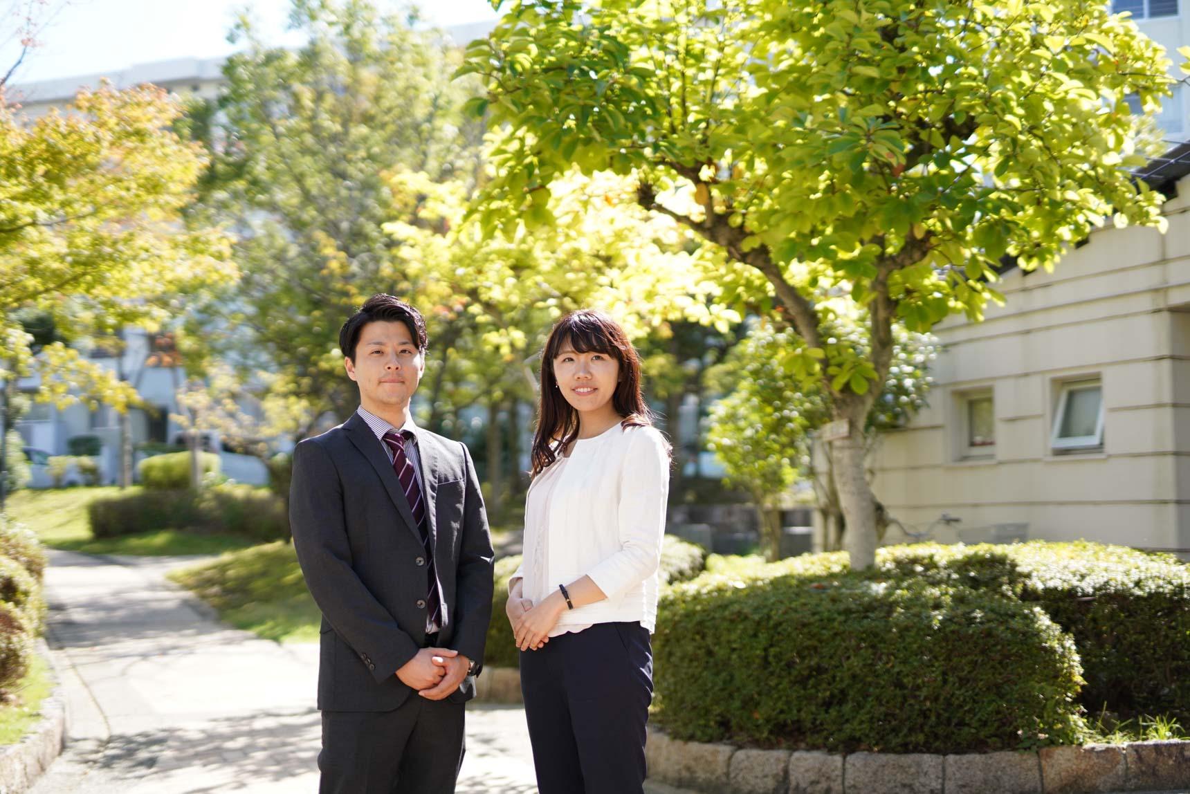 ご紹介してくださったのは、写真左からUR都市機構の原田さんと大津さん。