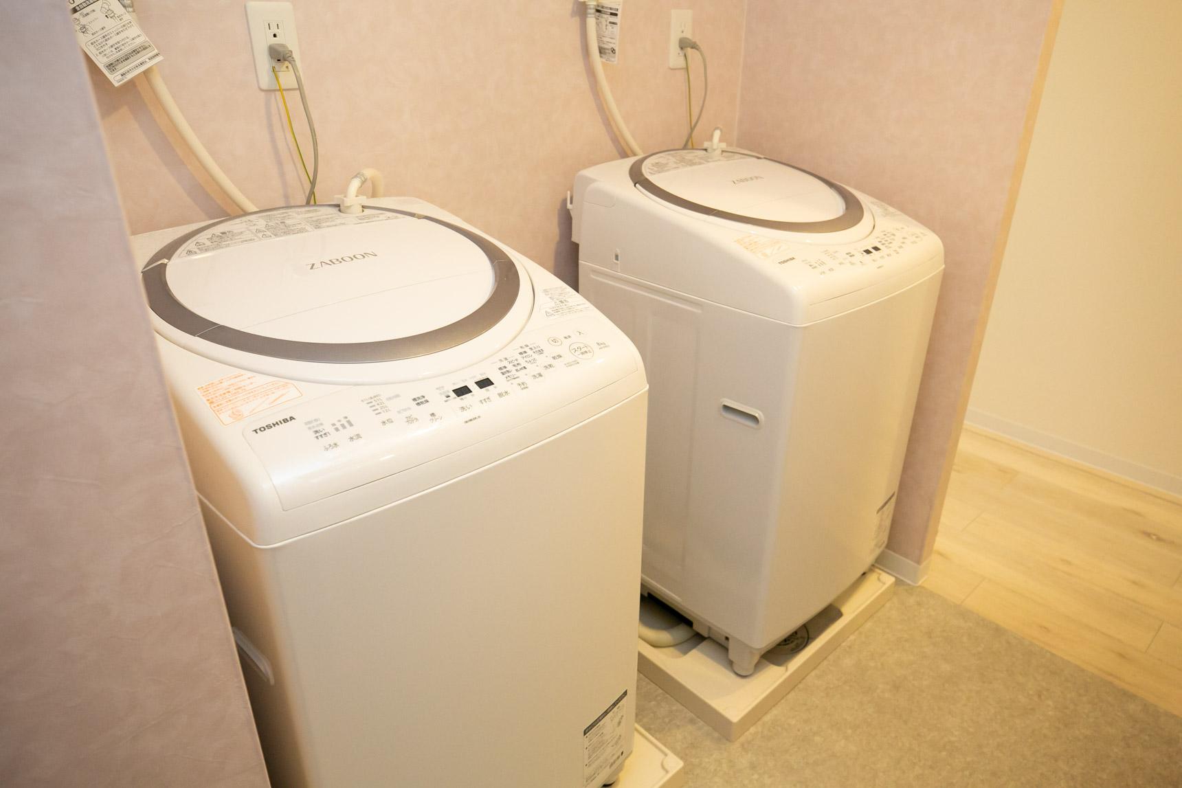 洗濯機も2台あって便利だそう。