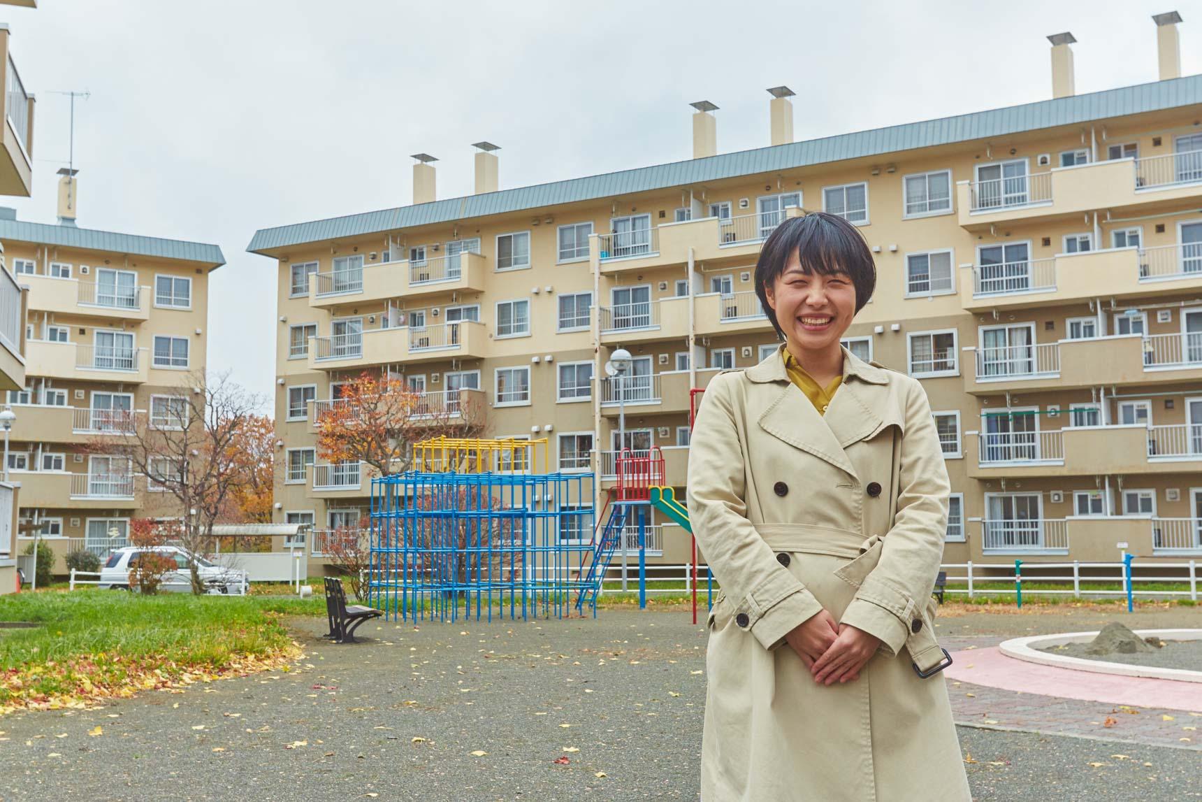 今回、そんな江別市大麻エリアにある3つのUR賃貸住宅をご紹介いただくのは、UR都市機構の小川さんです。