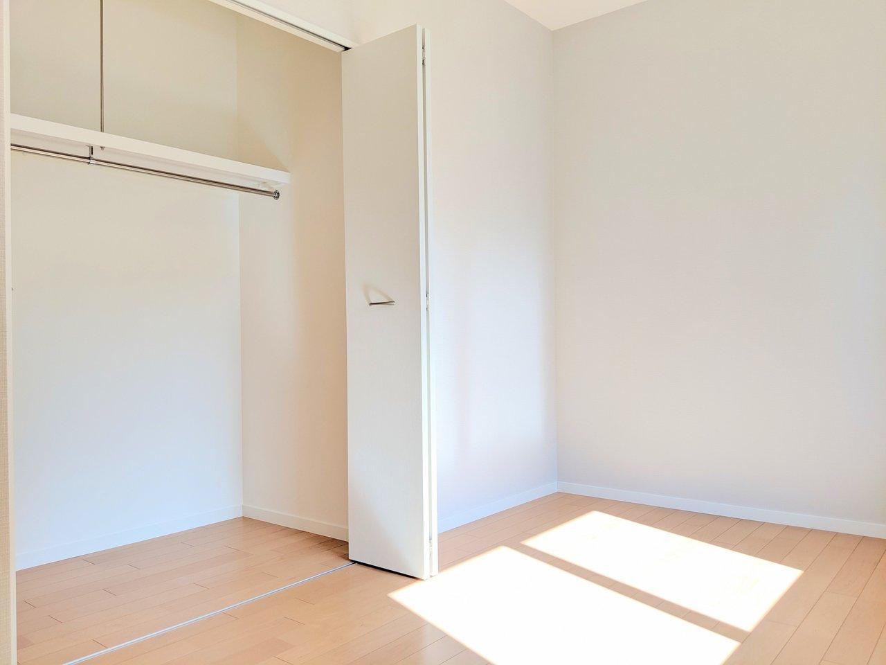 収納たっぷりのお部屋が3室!お子さんが大きくなっても長く住み続けられそうなお部屋。