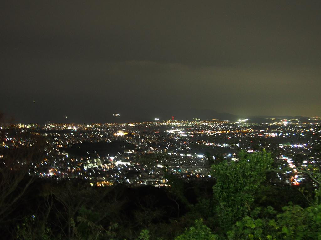 湘南平から一望できる夜景。ここから花火を見下ろすこともできるようです。