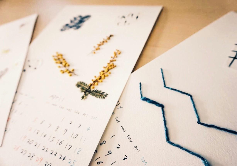 12/14(土)錦糸町開催 !異素材で楽しむ『コラージュカレンダー』を作りませんか