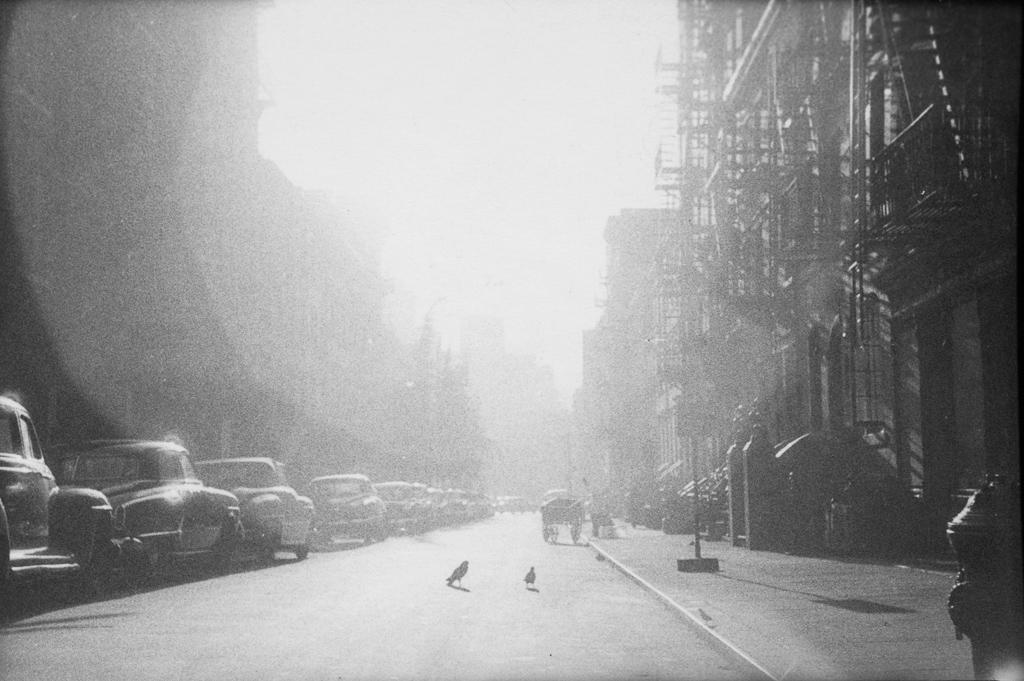 ソール・ライター 《ニューヨーク》 1950年代、ゼラチン・シルバー・プリント ⒸSaul Leiter Foundation