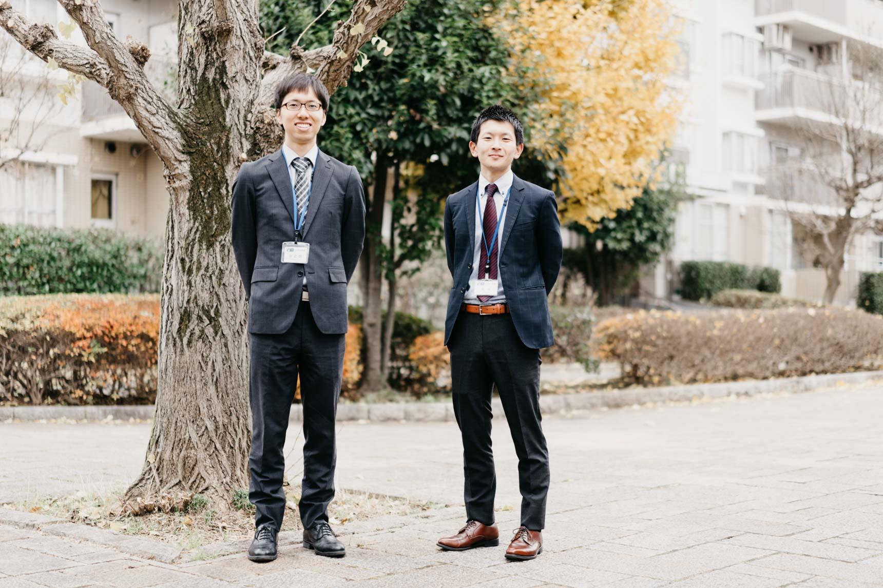 ご案内してくださったのは、UR都市機構の田之畑さん(写真左)と鈴木さん(写真右)