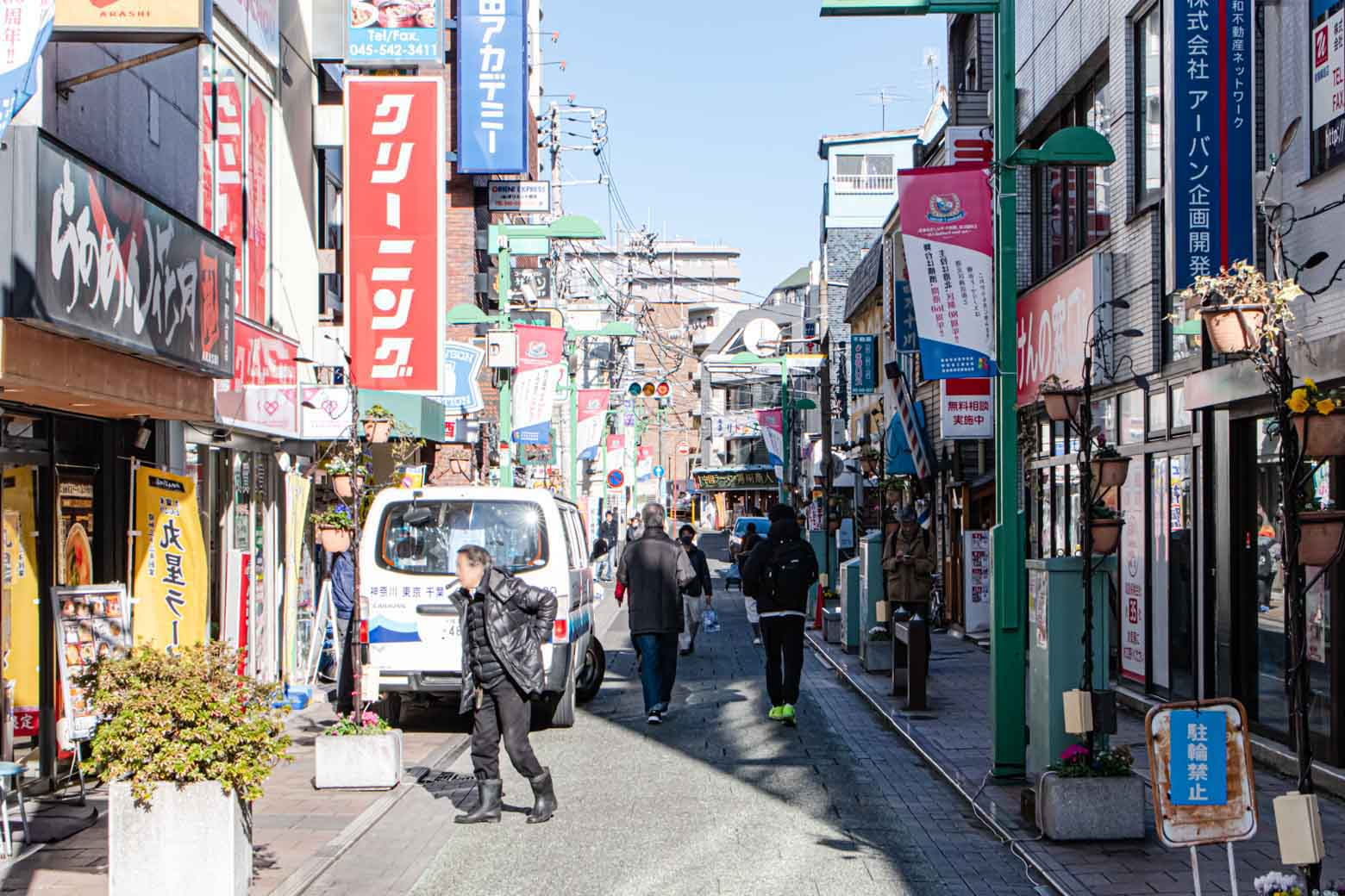綱島には7つの商店会があり、その加盟店数はなんと約400。駅の西側を中心に大規模な商圏を形成しています。