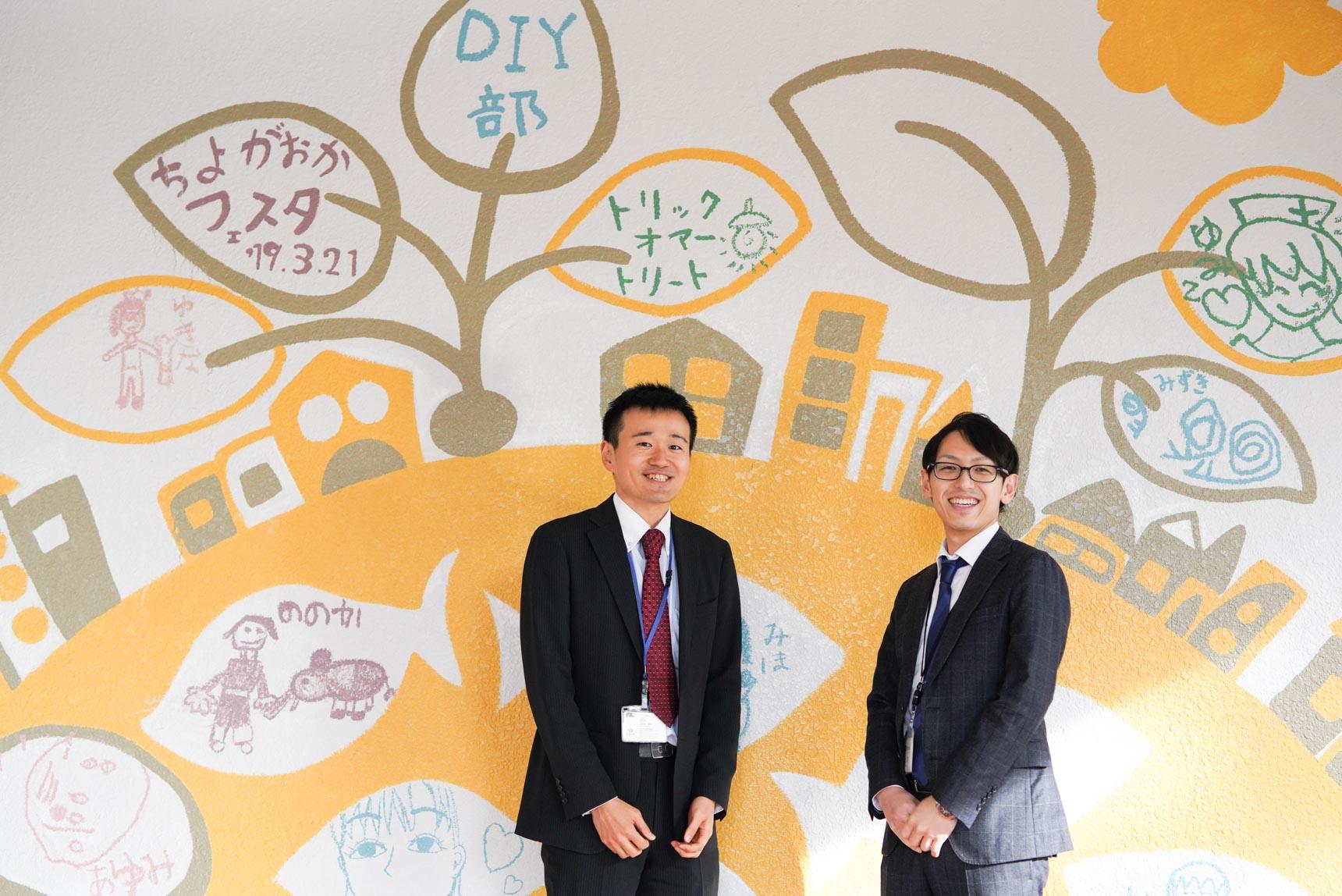 ご案内いただいたのは、写真左からUR都市機構の古檜山さん、上原さん。