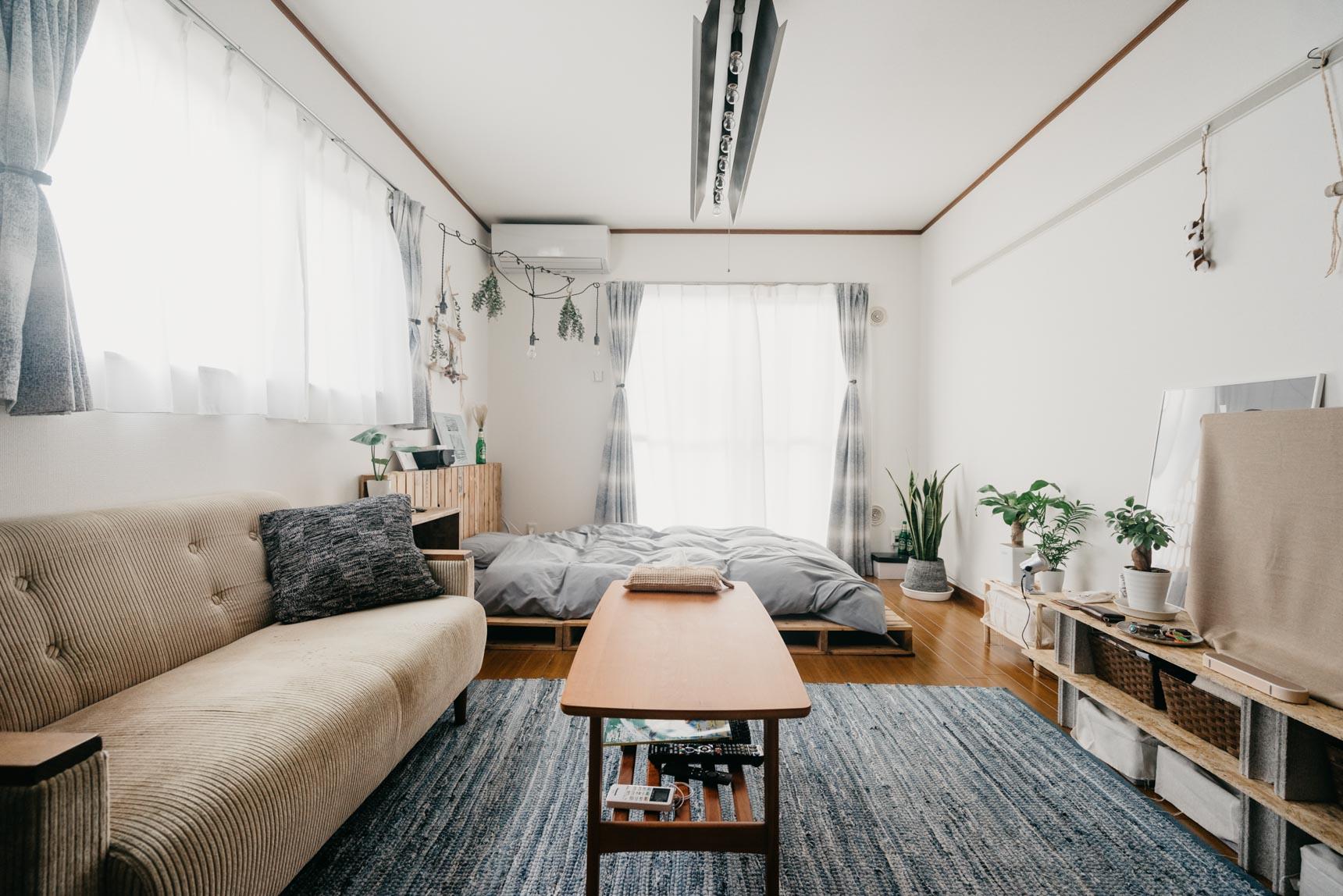 【一人暮らしのインテリア】6畳〜9畳の広さ別!1K・ワンルームの家具配置まとめ