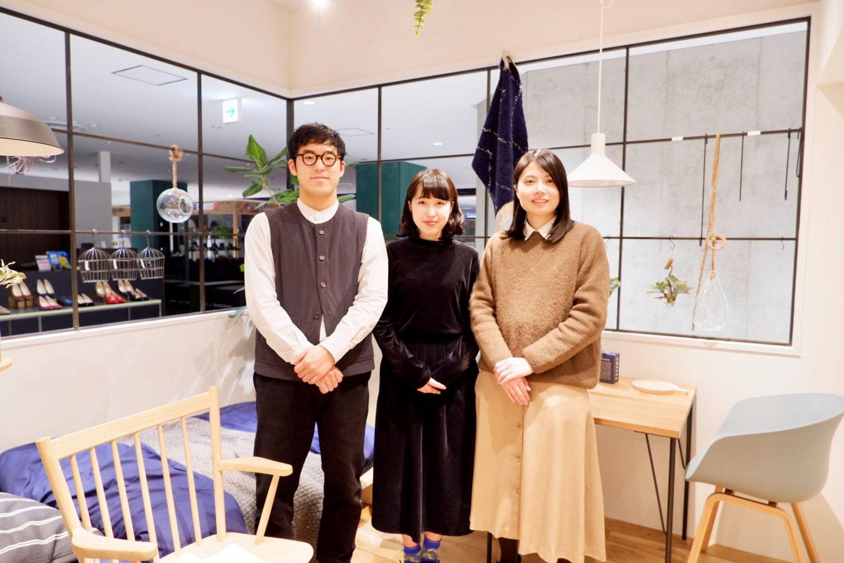 写真左から、越智、福田、三浦の3人でお届けいたします!