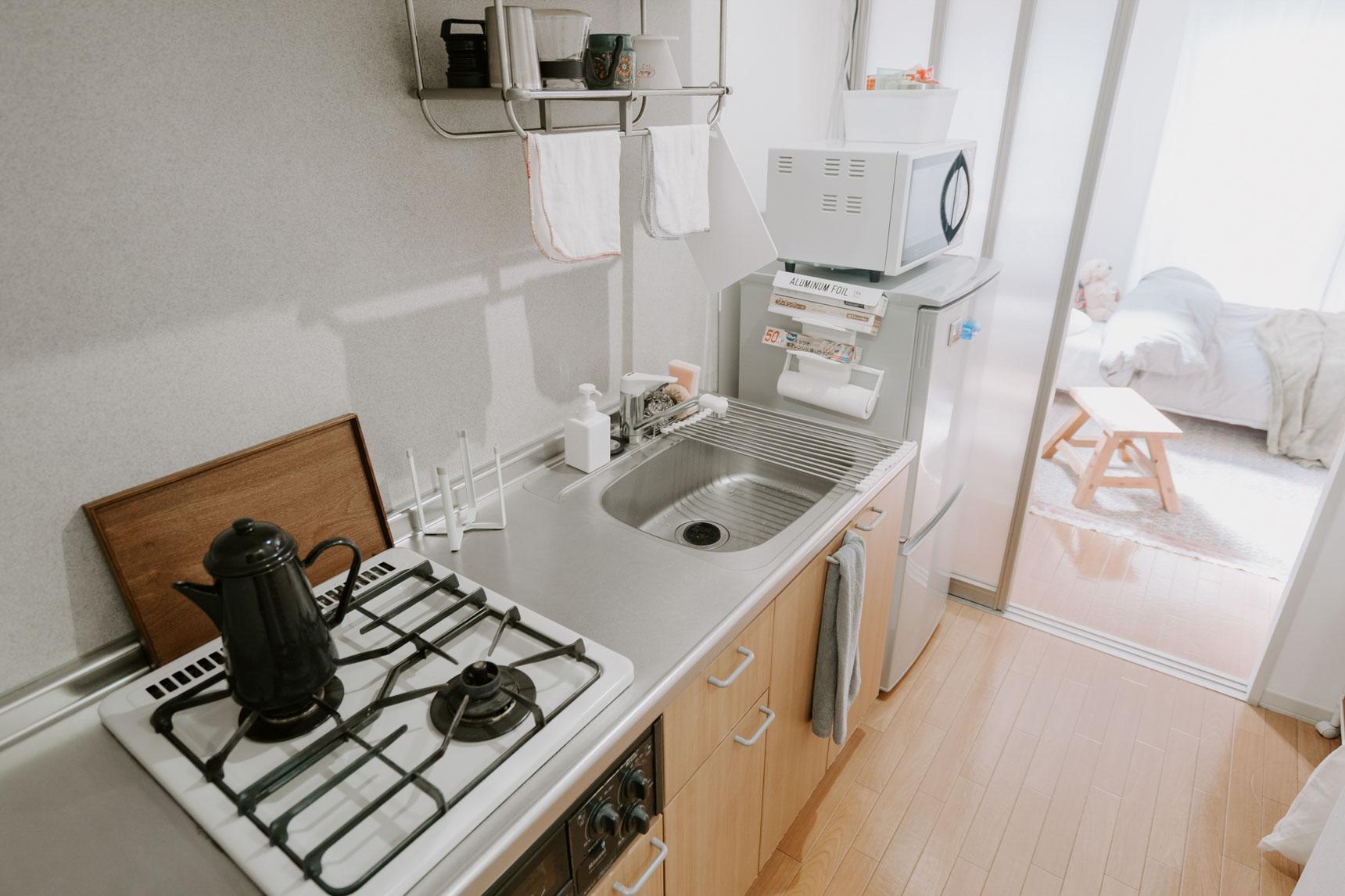 キッチンも、よく使うものがわかりやすい場所にあって、使いやすそうでした。