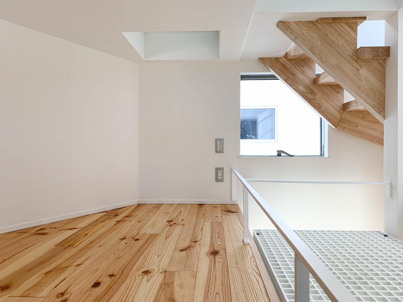 3階を寝室にするとなると、このロフト部分は二人の趣味部屋か、収納スペースに活用すると良さそうですね。