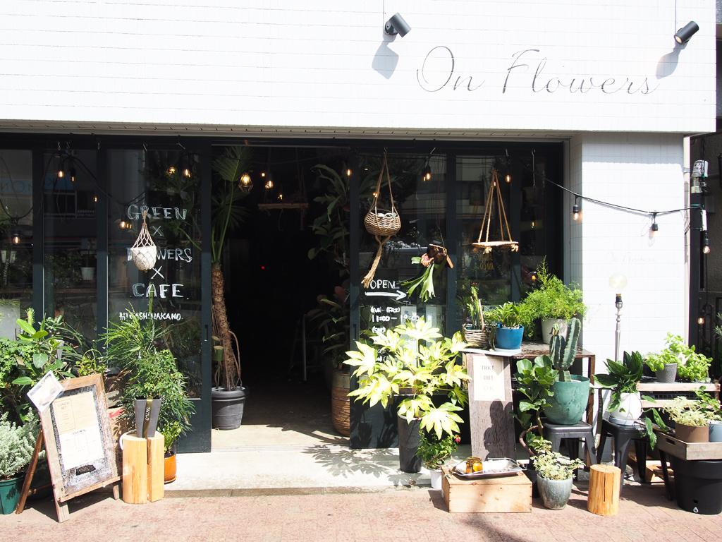 カフェも併設された花屋さん「On flowers」